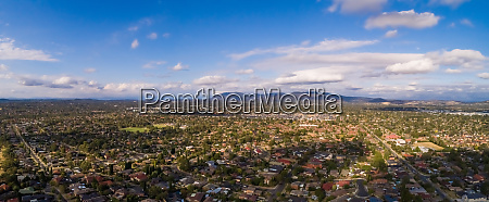 panoramic aerial view of wantirna south