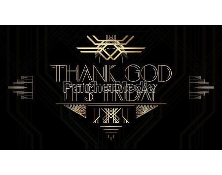 golden decorative thank god its friday