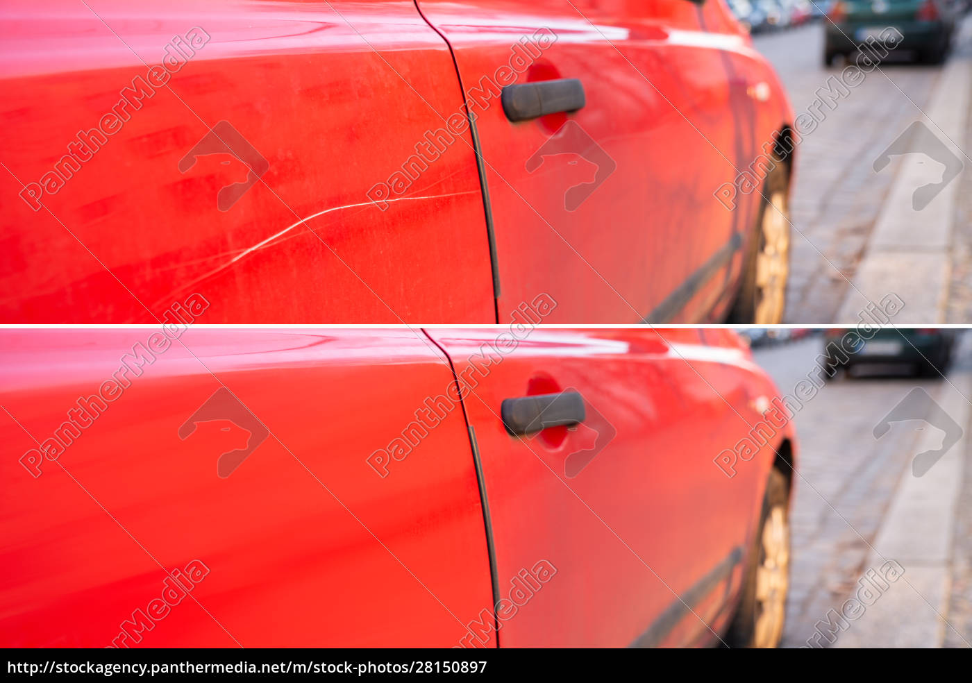 car, scratch, repair, before, and, after - 28150897