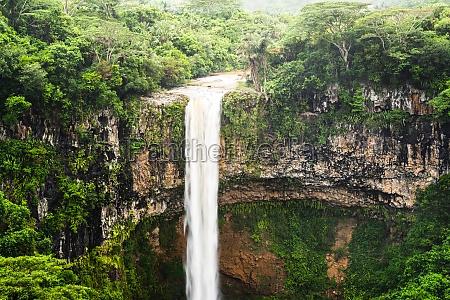 chamarel falls waterfall in mauritius island