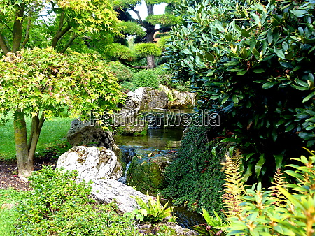 ornamental garden laid out in the