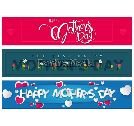 website banners happy mothers day