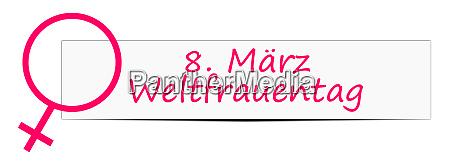 pink international womens day banner