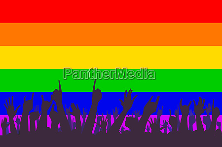 lgbt rainbow transgender rainbow flag with