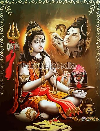 hinduism lord shiva drinking spiritual