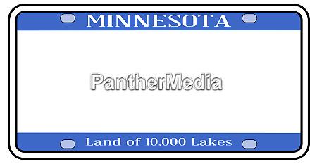 blank minnesota license plate