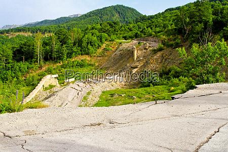 road mudslide erosion