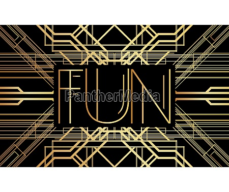 golden decorative fun sign with vintage