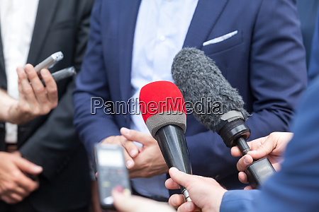 media interview with business person or