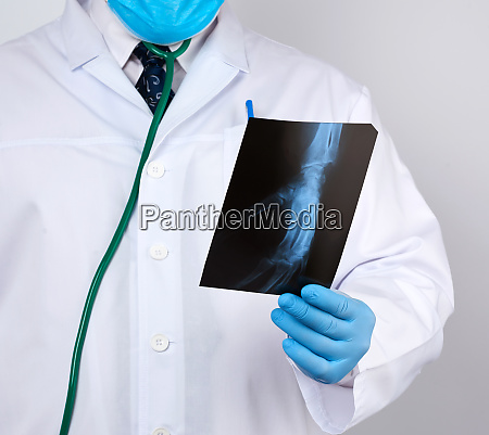 doctor in a white coat and