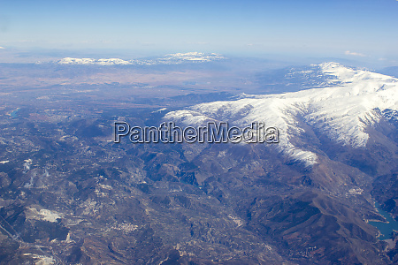 aerial view of sierra nevada spain