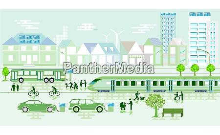 environmentally friendly city with environmental protection
