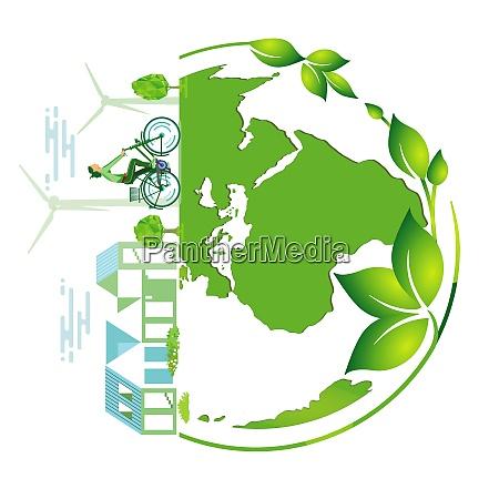 green earth symbol vector
