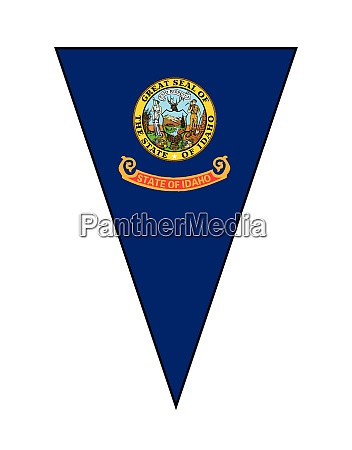 idaho state flag as bunting triangle