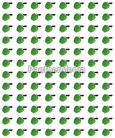 green apple page background