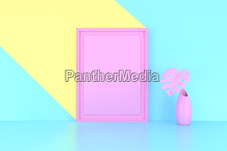 3d render abstract geometric background minimalistic