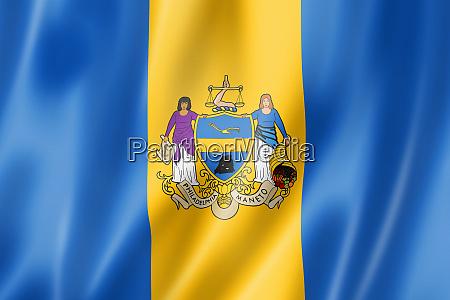philadelphia city flag pennsylvania usa