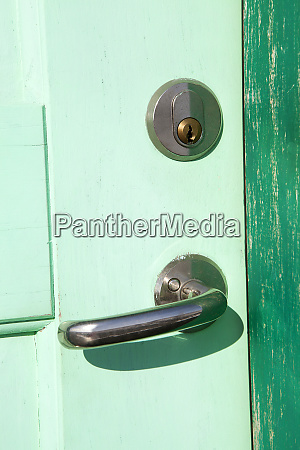 old wooden door in green