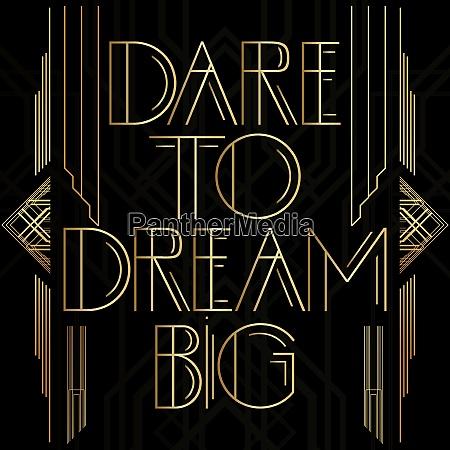 golden decorative dare to dream big