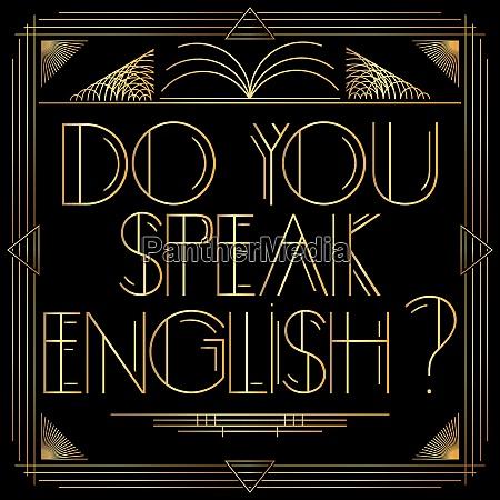 golden decorative do you speak english
