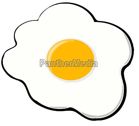fried egg illustration breakfast food yellow