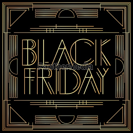 golden decorative black friday sign with