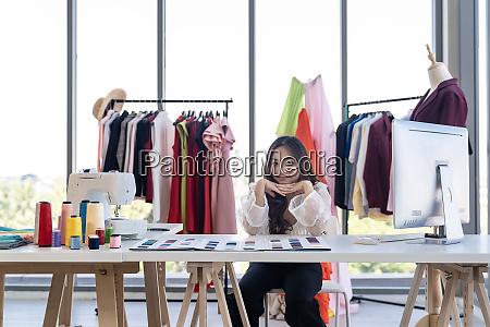 designer owner in atelier studio