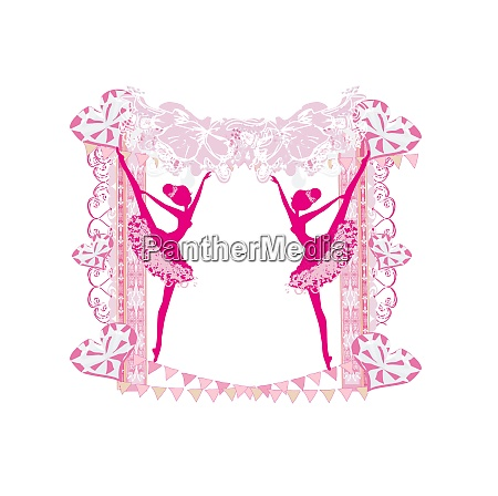 beautiful ballerina vintage frame
