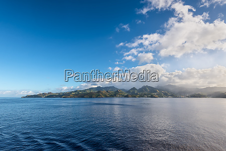 landscape of the tropical caribbean island