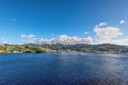 panorama landscape of kingstown harbor saint