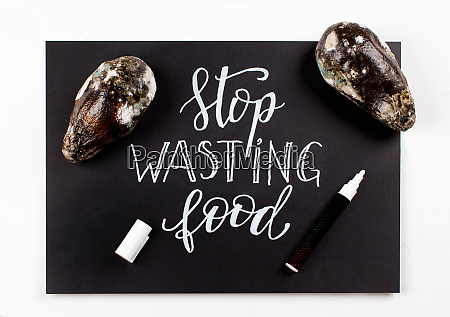 chalkboard, with, stop, wasting, food, lettering - 28174407