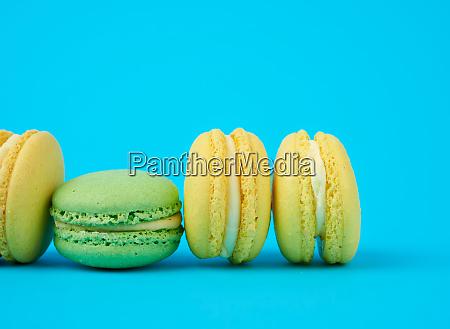 yellow and green round almond flour