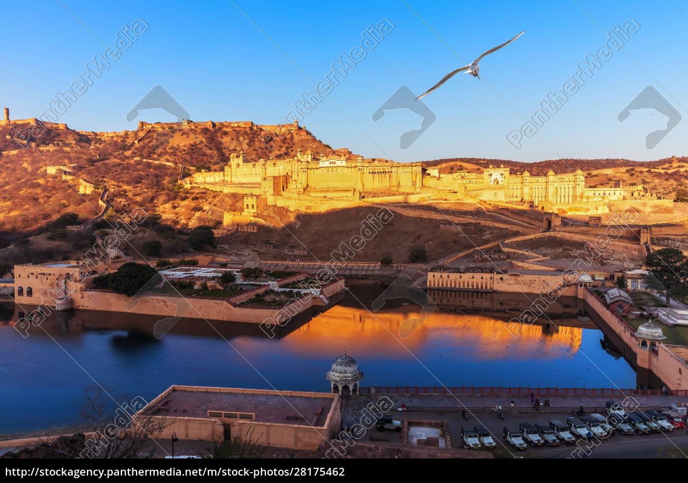 amber, fort, full, view, , jaipur, , rajasthan, - 28175462