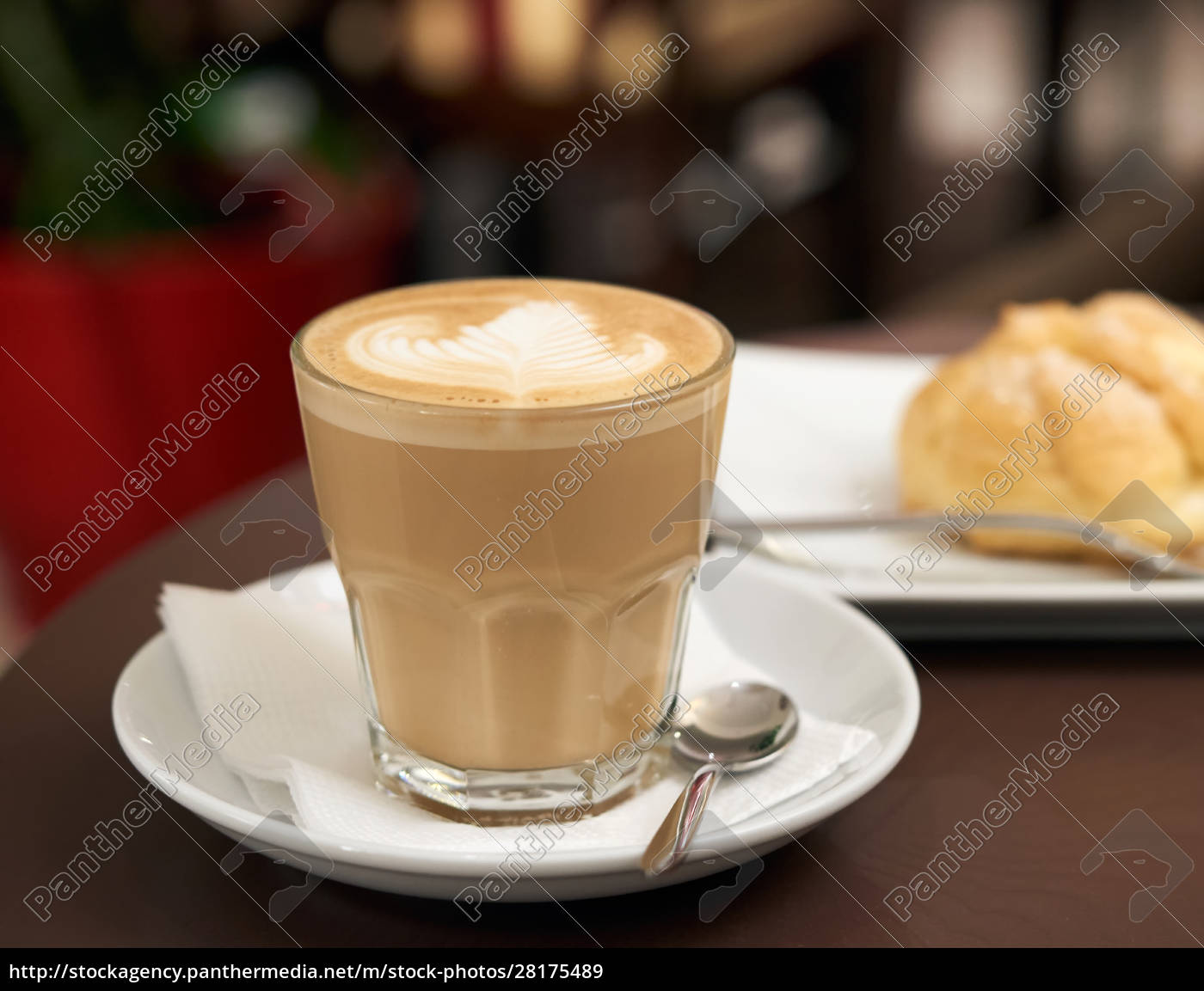 flat, white, coffee, in, a, transparent - 28175489