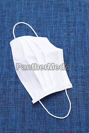white air protection mask on the