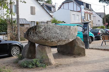 dolmen the carnac plage carnac france