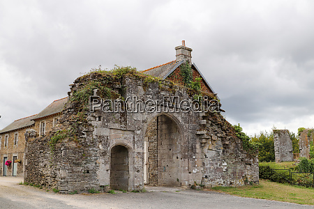 corlay france august 6 2019 ruins