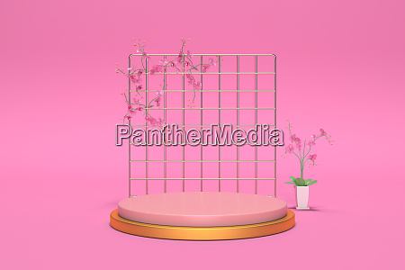 3d render abstract geometric background cylinder
