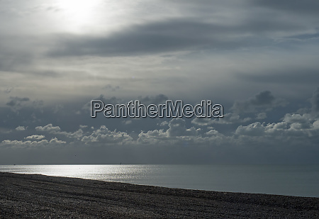 cloud layers over sea in sussex