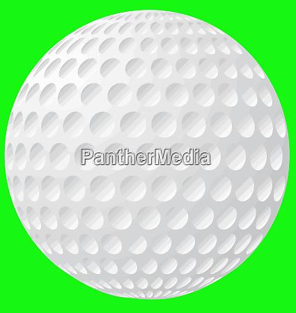 golf ball sport object white detail