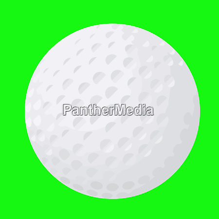 golf ball sport object detail white