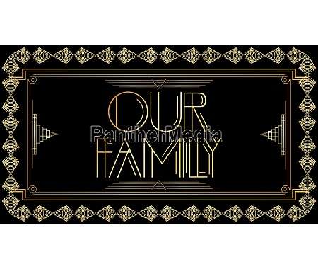golden decorative our family sign with