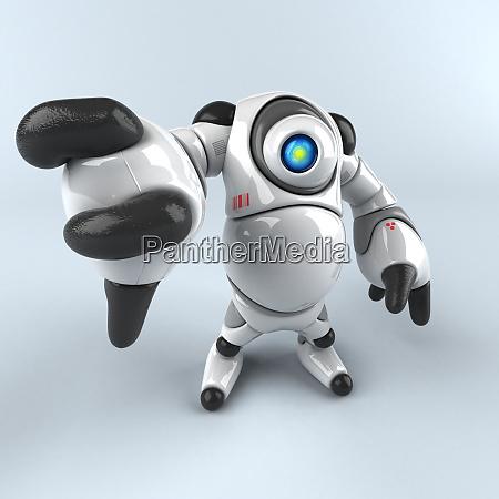 big robot 3d illustration