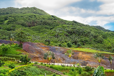 coloured earth in chamarel mauritius