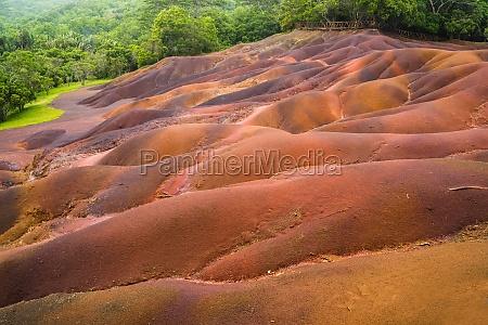 seven coloured earth in chamarel mauritius