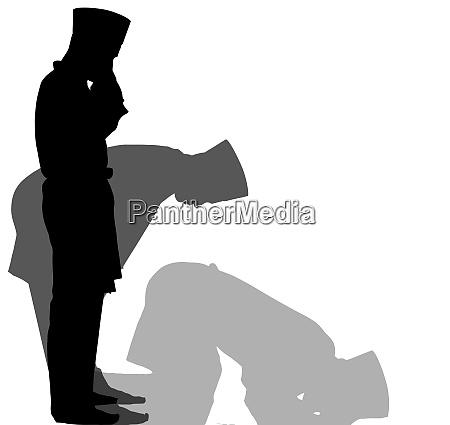 islam muslim praying holy belief silhouette
