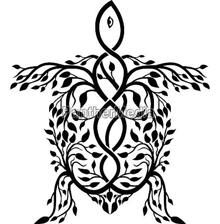 sea turtle celtic knot