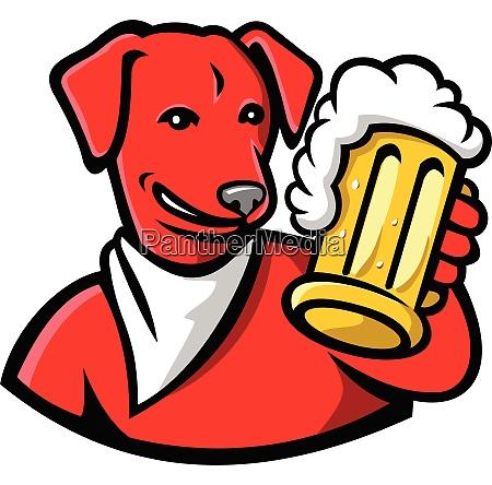 english lab dog beer mug circ