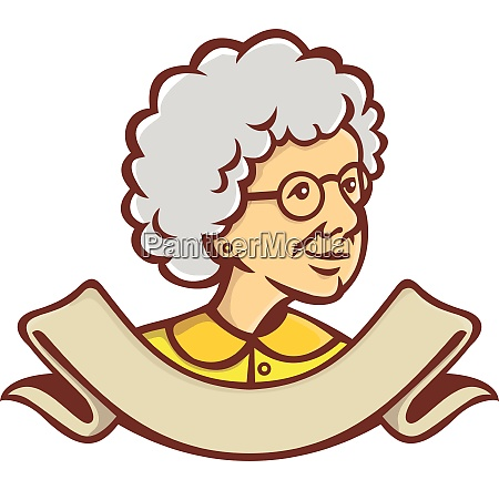 granny looking side bust retro