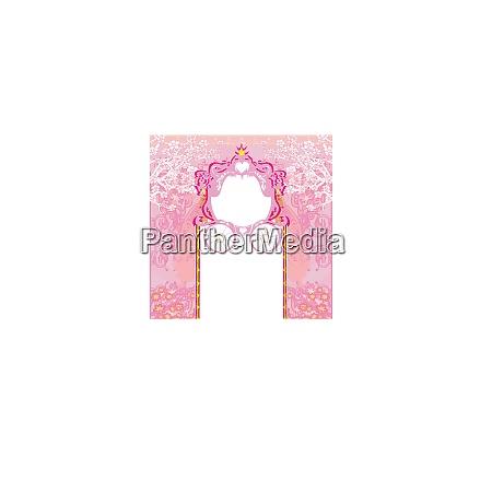 vintage decorative pink carriage invitation
